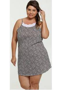 Camisola Feminina Estampa Animal Print Plus Size