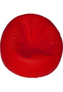 Puff Redondo Pop Vermelho