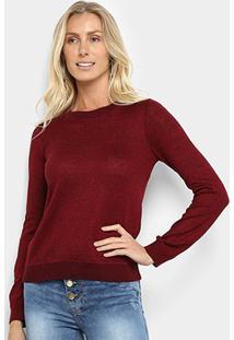 Suéter Tricot Fast Glam Feminino - Feminino-Vinho