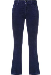 J Brand Slim-Fit Cropped Jeans - Azul