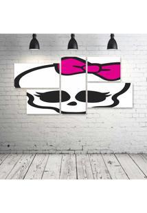 Quadro Decorativo - Skull-Girl - Composto De 5 Quadros - Multicolorido - Dafiti