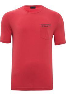 Camiseta Com Bolso Modern Goiaba
