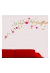Adesivo De Parede Floral 03 - P 70X25Cm