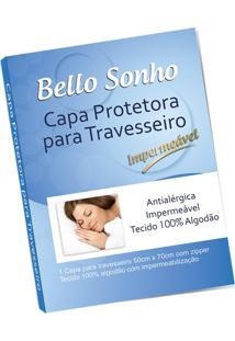 Capa Protetora Antialérgica De Travesseiro Em Percal Impermeável