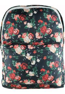 Mochila Lenna'S Floral-1 Vermelho