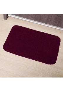 Tapete De Banheiro Tapetes Júnior Algodão Color 40X60Cm Vinho Com Base Antiderrapante