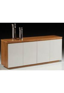 Buffet Agata Carvalho Mel E Off White Brilho 2,00 Mt - 32407 - Sun House