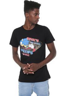 Camiseta Tectoy Sonic The Hedgehog Speed Preta