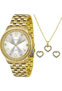 Kit Relógio Feminina Lince Lrg4370L K169S2Kx