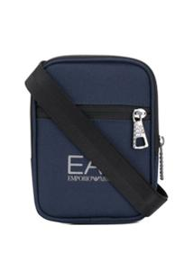 Ea7 Emporio Armani Carteira Com Estampa Logo - Azul
