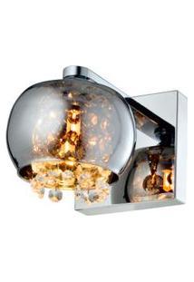 Arandela De Vidro E Metal G9 40W Cromado Quality
