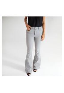 Calça Jeans Flare Cinza - Johanesburgo