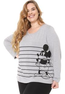 Blusa Cativa Disney Plus Mickey Mouse Cinza
