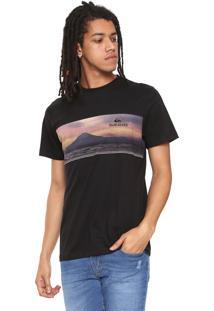 Camiseta Quiksilver Fuji Fuji Preta