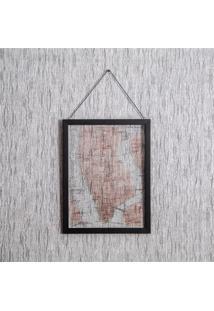 Quadro De Pendurar Mapa 1 43X33Cm