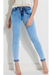 Calça Jeans Com Cintura Média