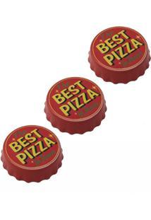 Abridor De Garrafa Tampinha E Imã Personalizado Best Pizza