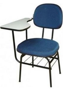 Cadeira Universitária Uni-01 Em Tecido Azul Mq09 Pethiflex