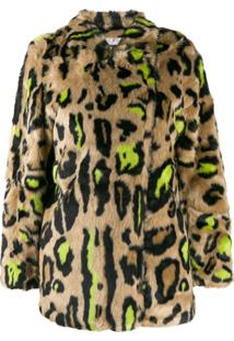 Apparis Sobretudo Animal Print Felpudo - Neutro