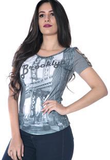 Blusa Zigma T-Shirts Cinza