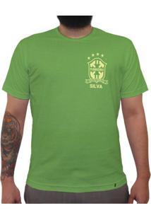 Silva (Brasão Amarelo) - Camiseta Clássica Premium Masculina