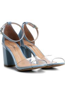 69f060fd10 Sandália Azul Vinil feminina