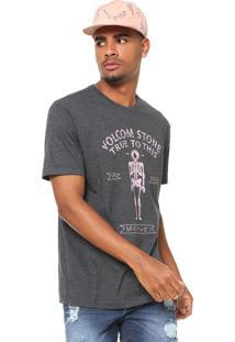 Camiseta Volcom Ledge Cinza