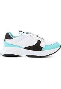 Tênis Burn Chunky Sneaker Feminino - Feminino-Branco+Verde