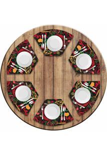 Jogo Americano Love Decor Para Mesa Redonda Wevans Pizza Kit Com 6 Pçs - Kanui