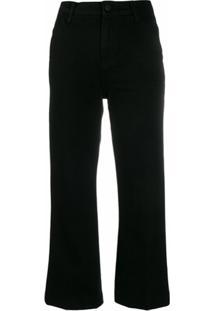 J Brand Calça Jeans Flare Cropped - Preto