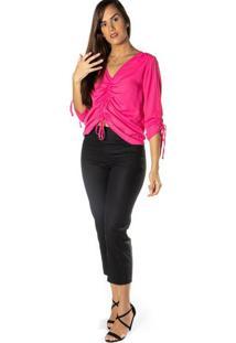 Blusa Com Franzido - Pinkdwz