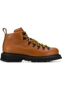 Buttero Ankle Boot Com Cadarço - Marrom