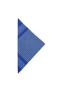 Lenço Bijoulux Tipo Bandana Azul Com Bolinhas