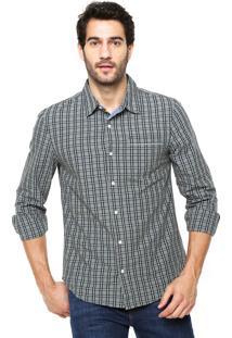 Camisa Hering Slim Xadrez Verde
