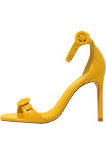 Sandália Vitória Rocha Verniz Polem Amarelo