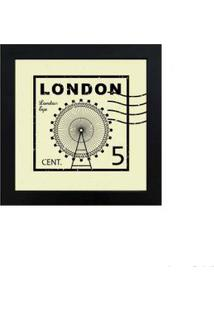 Quadro Decorativo London 23X23Cm Preto Infinity