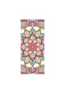 Adesivo Decorativo De Porta - Mandala - 2438Cnpt