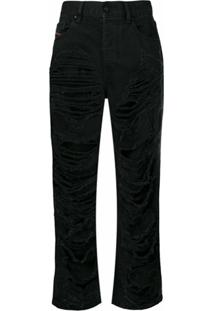 Diesel Calça Jeans 'Aryel 084Wh' - Preto