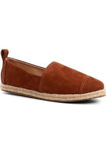 Espadrille Shoestock Camurça Feminina - Feminino-Caramelo