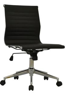 Cadeira Baixa Sem Braço Oficce Pu Sevilha -Rivatti - Preto