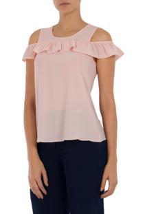 Blusa Crepe Mx Fashion Brigitte Rosê