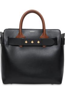 Burberry The Medium Leather Triple Stud Belt Bag - Preto