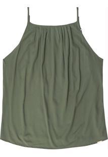 Blusa Decote Reto Com Alça Verde