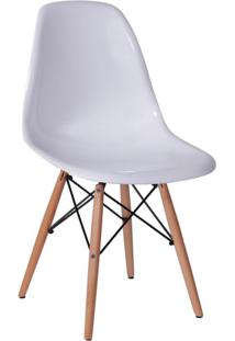 Cadeira Eames I Base Madeira E Branca