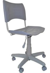 Cadeira Giratória Iso Plástica Base Cinza - Cinza