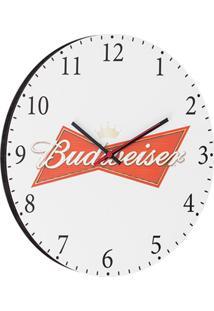 Relógio De Parede Bud Branco