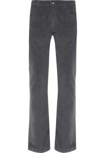 Calça Masculina Veludo Cotelê 5 Pockets - Cinza