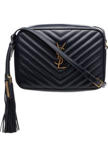 Saint Laurent Bolsa Transversal Lou Camera - Azul