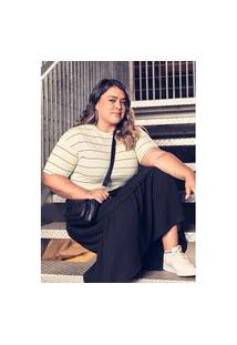 Vestido Midi Preto Gang Plus Size Feminino