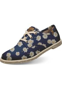 Oxford Usthemp Legend Vegano Casual Estampa Margarida Azul Marinho